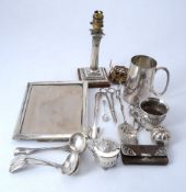 A group of silver and mainly plated wares