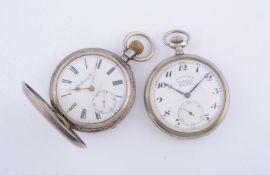 Moser & Cie,Silver full hunter keyless wind pocket watch