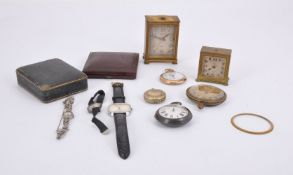 A collection of watches and clocks