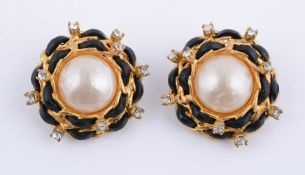 A pair of costume earclips