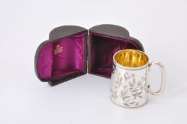A Victorian silver christening mug by Holland, Son & Slater