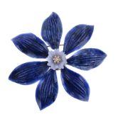 A large flower head brooch