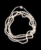 A single row pearl necklace