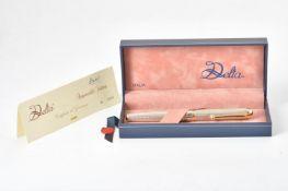 Delta, a silver coloured fountain pen