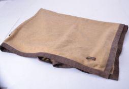 Oyuna, a brown cashmere throw