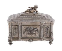 A Victorian electro-plated small jewellery casket by Mappin & Webb