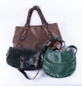 A brown handbag by Gucci
