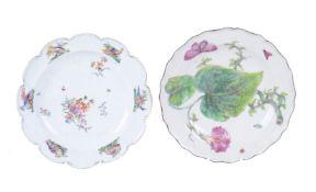 A Chelsea botanical plate of 'Hans Sloane' type