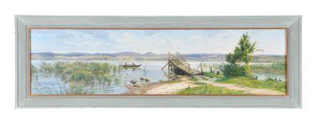 Johannes Boesen (Danish 1847-1916)The edge of the lake