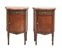 ϒ A pair of French bedside tables