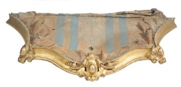 A French carved giltwood bed canopy