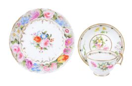 A Swansea porcelain 'London' shape breakfast cup and saucer attributed to William Pollard