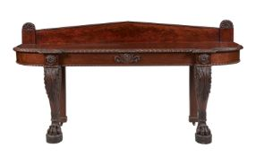 A William IV carved mahogany serving table