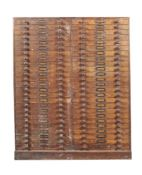 A Victorian oak specimen cabinet