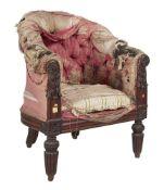 ϒ A George IV rosewood Bergere armchair