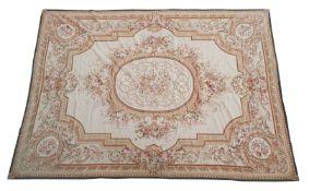 A wool floral carpet in Aubusson taste