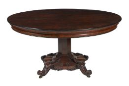 ϒ A Victorian rosewood centre table