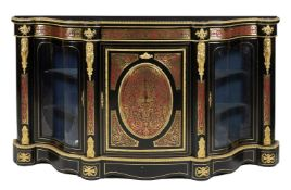 ϒ A Napoleon III ebonised, 'Boulle' inlaid and gilt metal mounted credenza,