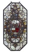 A Netherlandish stained and leaded glass armorial panel