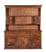 A George III oak and elm dresser