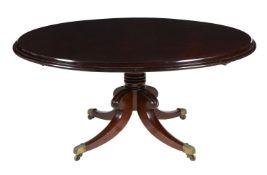 An Irish George IV mahogany centre table