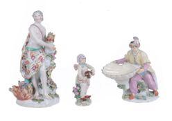 Three assorted Chelsea porcelain figures