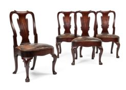 A set of four George II mahogany side chairs, circa 1735