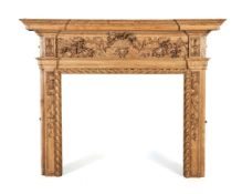 A George III carved pine chimneypiece, mid 18th century