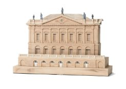 A gypsum architectural model of Spencer House