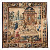 A Paris historical tapestry, Faubourg Saint-Marcel workshops, woven by François de la Planche (Frans