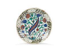An Iznik fritware pottery dish, circa 1580-1620