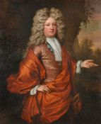 Frederick Kerseboom (German 1632-1690) Portrait of Ralph Freeman Jr. of Aspenden (1666-1742)Oil on c