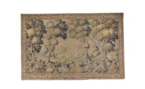 A verdure tapestry panel in Aubusson style, 20th century