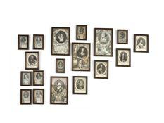A group of 18 mezzotints depicting British monarchs