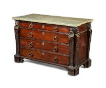 A Fine George II carved mahogany, dressing commode, circa 1735, possibly by John Boson and Cornelius
