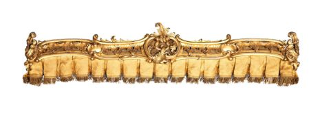 A William IV carved giltwood pelmet, circa 1830