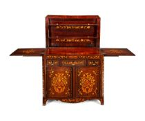 A Dutch mahogany and floral marquetry buffet, early 19th century