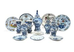 A selection of Dutch Delft, various dates 18th & 19th centuries