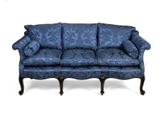 A George III style carved mahogany sofa, late 19th/early 20th century