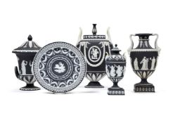 A selection of Wedgwood black-dip Jasper, mostly late 19th century