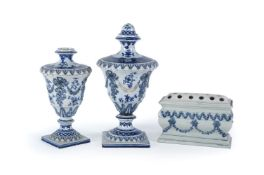Three items of Staffordshire pearlware