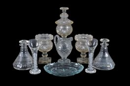 A miscellaneous selection of mostly Low Countries cut glass