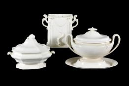 Three items of English creamware