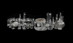 A mixed assortment of domestic glass