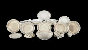 A selection of English domestic creamware