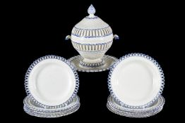 The remnants of a Neale & Co. creamware part dessert service
