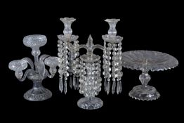 Three items of Victorian clear glass