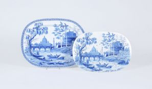A Spode 'Tiber' pattern shaped oval pearlware serving dish