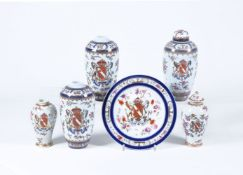 A selection of Continental porcelain of Edme Samson type