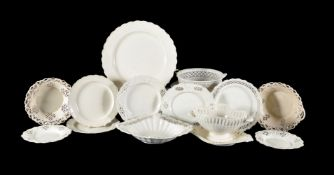 A selection of Staffordshire and South Yorkshire creamware